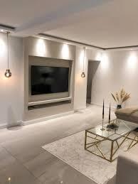 tv wand wohnung wohnzimmer planen wohnung design