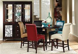 Cindy Crawford Home Highland Park Ebony 5 Pc Counter Height