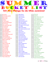 The Ultimate Summer Bucket List Over 100 Things To Do Via Amotherthing