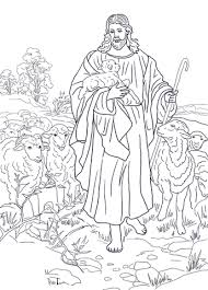 Click To See Printable Version Of Jesus Is The Good Shepherd Coloring Page