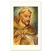 st francis of assisi icon holy card