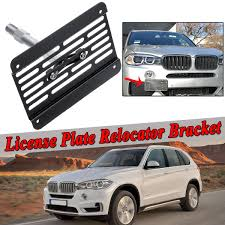 Tow Hook License Plate Relocator Bracket Mount Front Bumper For BMW