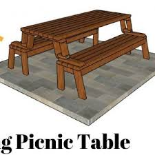 convertible folding picnic tablebench plans available pics with