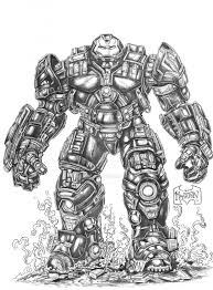 Iron Man Hulkbuster Avengers Coloring Pages