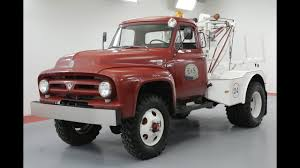 100 1953 Ford Truck FORD F500 TOW TRUCK MARMON HERRINGTON YouTube