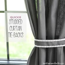 Fabric For Curtains Diy by Diy Studded Curtain Tie Backs Beckham Belle