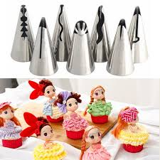 Cakes Decorated With Russian Tips by Russian Tulip Rose Icing Piping Nozzles Tips Set Cake Decorating