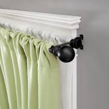 120 170 Inch Curtain Rod by Kenney 66 In 120 In Telescoping 5 8 In Double Curtain Rod Kit
