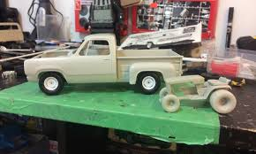 100 78 Dodge Truck Dodge Stepside And Wheel Horse Mower On The Workbench Pickups