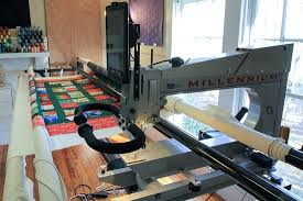 We provide longarm quilting services using two APQS machines
