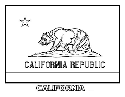 State Flag Of California Coloring Page Color Luna