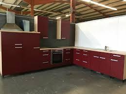 gebrauchte rote l form küche inkl geräte sofort zum mitnehmen