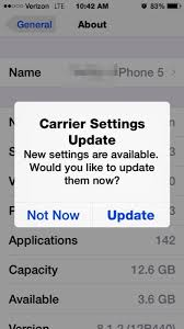 Why won t iTunes let me carrier update my iPhone Please help