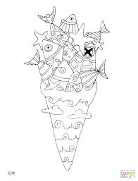 Ice Cream Sundae Coloring Sheets Free Truck Page Book Click Sea Pages View Printable Version Color