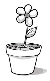 Pin Flowerpots Clipart Black And White 3