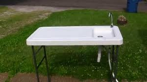 Stainless Steel Fish Cleaning Station With Sink by Cablas Deluxe Folding Fish Station Youtube
