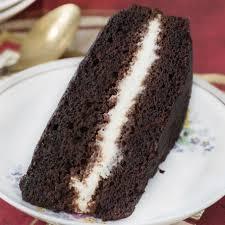 schokoladenkuchen mit nutella creme füllung 4 5