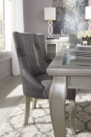 Mestler Side Chair By Ashley by Coralayne Dark Gray Dining Upholstered Side Chair Set Of 2 From