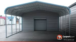 2 Car Carport 18 x 26 with Utility Shed