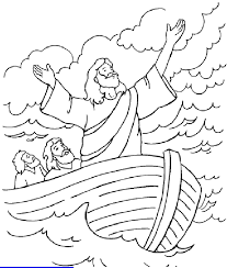 Coloring Picture Of Jesus Calming The Storm