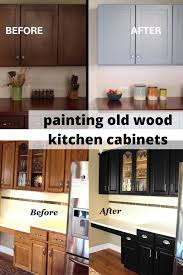 Painting Wood Kitchen Cabinets Ideas Painting Wood Kitchen Cabinets Wood Kitchen Cabinets