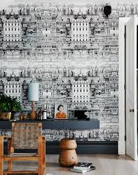 Metallic Tile Effect Wallpaper by Transform Your Living Room With Statement Wallpaper The Room Edit