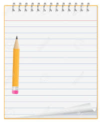 Paper clipart notepad Pencil and in color paper clipart notepad