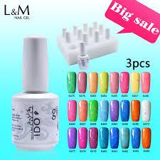 professional nail gel uv l 3 pcs lot ido gelpolish 15ml cheese gel uv led diy nail