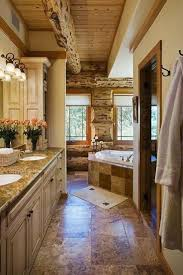 Primitive Decorated Bathroom Pictures by Best 25 Log Cabin Bathrooms Ideas On Pinterest Cabin Bathrooms