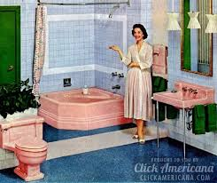 Sinking In The Bathtub 1930 by 16 Retro Pink Bathroom Styles Of The 1950s Click Americana