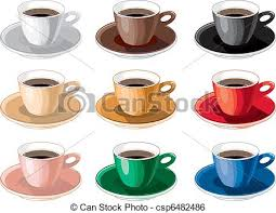 Color Cup Of Coffee
