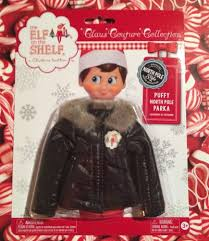 2015 puffy north pole parka black jacket elf on the shelf claus