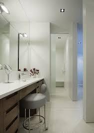 Bathroom Makeup Vanity Height by Chicago Narrow Bathroom Vanity Contemporary With Recessed Lighting