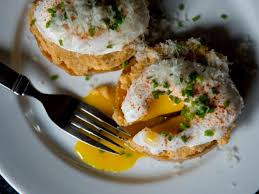 Bonnie Sterns Take On Eggs Benedict Bonny With Roasted Squash Rounds And Cauliflower Mash