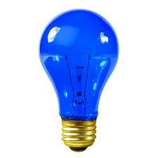 satco s6082 25 watt blue bulb