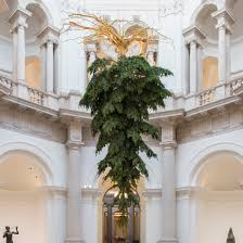 Best Type Of Christmas Tree For Cats by Upside Down Christmas Tree Suspended From Ceiling Of Tate Britain
