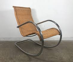 Italian Tubular Chrome And Wicker Rocking Chair, Bauhaus Style Antique Childrens Wicker Rocking Chair Wicker Rocker Outdoor Budapesightseeingorg Rocking Chair Dark Brown At Home Paula Deen Dogwood With Lumbar Pillow Victorian Larkin Company Lloyd Flanders Chairs Pair Easy Care Resin 3 Piece Patio Set Rattan Coffee Table 2 In Seat Cushion And Alinum Glider Lawn Garden Porch Livingroom Fniture Franco Albini Style Midcentury Modern Accent Occasional Dering Hall