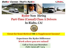 Careers | Ryder | CDL Truck Driver/ Class A/ Part-Time (Casual ...