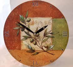 imc wanduhr motiv olive mediterran günstig quartz uhr küchenuhr küche esszimmer wohnzimmer imc manufactoria