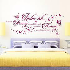 wandtattoo liebe ist in deinen armen einzuschlafen spruch paare schlafzimmer
