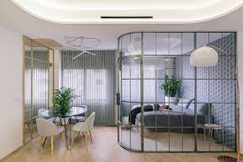 100 Glass Walls For Houses And Lots Of Curves Distinguish Luxury Madrid Apartment