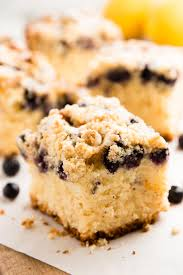 Lemon Blueberry Sour Cream Coffee Cake with Cake Mix}