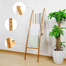 zri bamboo handtuchleiter handtuchständer leiter