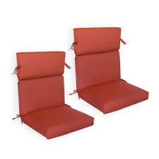 sunbrella 2 pack deluxe high back chair cushions available in