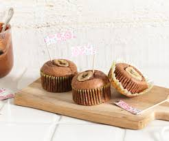 muffins nutella banane
