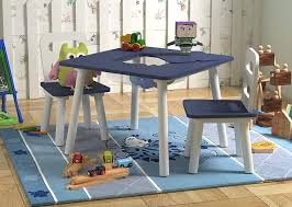 Amazon.com: Pidoko Kids Table And 2 Chairs Set - With Storage - Blue ... Greek Style Blue Table And Chairs Kos Dodecanese Islands Shabby Chic Kitchen Table Chairs Blue Ding Http Outdoor Restaurant With And Yellow Crete Stock Photos 24x48 Activity Set Yuycx00132recttblueegg Shop The Pagosa Springs Patio Collection On Lowescom Tables Amusing Ding Set 7 Piece 4 Kids Playset Intraspace Little Tikes Bright N Bold Free Shipping Balcony High Cushions Fniture Rst Brands Sol 3piece Bistro Setopbs3solbl The