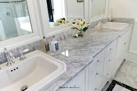 white marble bathroom countertops by spectrum designs