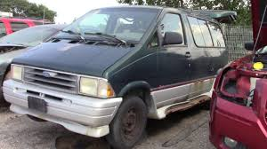 Old Ford Aerostar At The Junk Yard