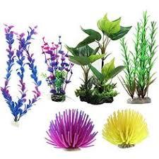 Spongebob Aquarium Decor Set by 10 Pack Artificial Aquarium Plants Small Size 4 To 4 5 Inch