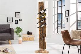 design weinregal woods 140cm teakholz metall massivholz dunord